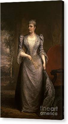 First Ladies Canvas Print - Caroline Harrison, First Lady by Science Source