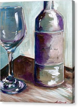 Caroline Wine Canvas Print by Anne Seay