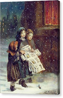 Carols For Sale  Canvas Print by Augustus Edward Mulready