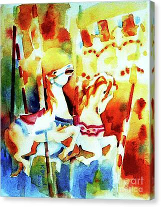 Canvas Print featuring the painting Carousal 4 by Kathy Braud
