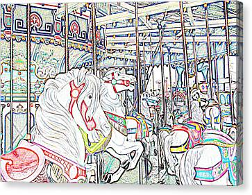 Carousel At Wonderland Canvas Print by Kevin  Sherf