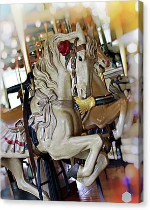 Carousel Belle Canvas Print by Melanie Alexandra Price