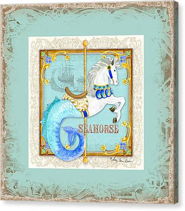Carousel Dreams - Seahorse Canvas Print by Audrey Jeanne Roberts