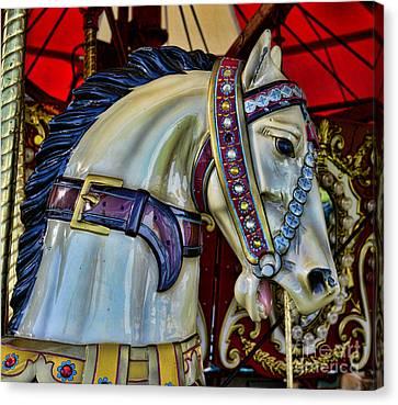 Carousel Horse - 7 Canvas Print by Paul Ward
