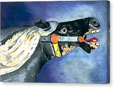 Carousel Horse 2 Canvas Print by Stephen Anderson