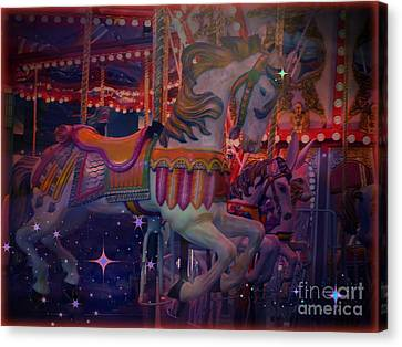 Carousel Horse Canvas Print by Annie Gibbons