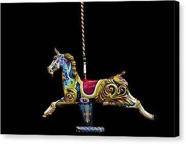 Carousel Horse Canvas Print by Martin Newman