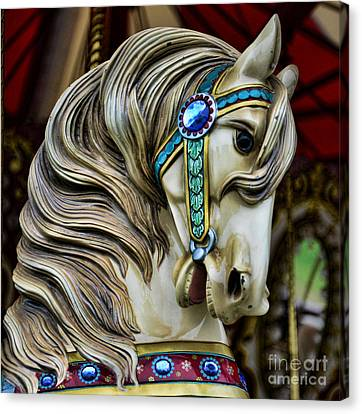 Horse Lover Canvas Print - Carousel Horse  by Paul Ward