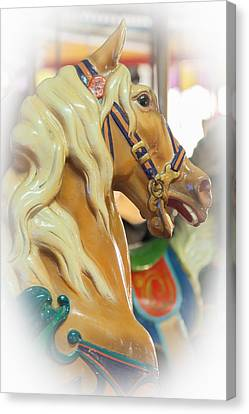 Carousel Horse Profile Seaside Heights New Jersey Canvas Print