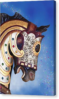 Carousel Horse Canvas Print by Tom Mc Nemar