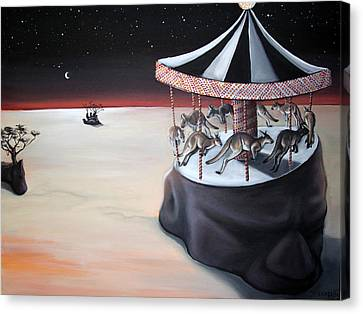 Carousel In The Head Canvas Print by Charlotte Oedekoven