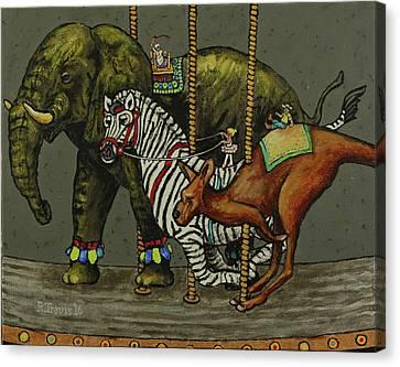 Carousel Kids 2 Canvas Print by Rich Travis