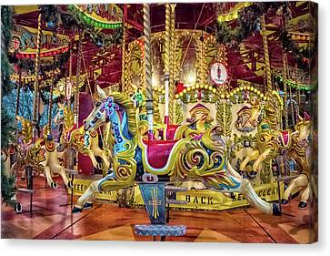 Carousel Canvas Print by Martin Newman
