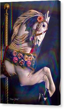 Canvas Print featuring the photograph Carousel Memories by Marie Hicks
