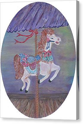 Carousel Canvas Print by Mikki Alhart