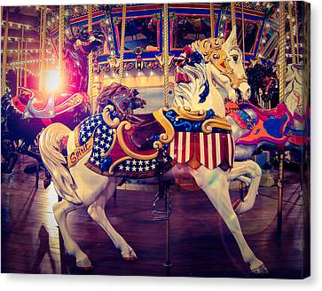 Carousel Spirit Canvas Print by Sonja Quintero