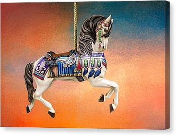 Carousel Sunset Canvas Print