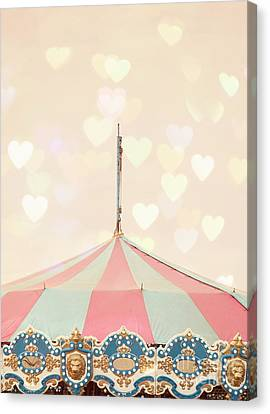 Carousel Tent Canvas Print by Juli Scalzi