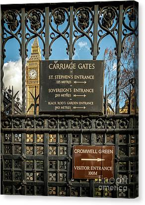 Carriage Gates London Canvas Print by Adrian Evans