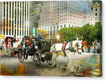 Carriage On Fifth Canvas Print by Diana Angstadt
