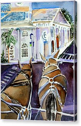 Carriage Ride In Charleston Canvas Print by Mindy Newman