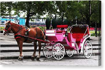 Carriage Ride In Montreal Canvas Print