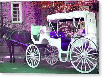 Canvas Print featuring the photograph Carriage Ride by Susan Carella