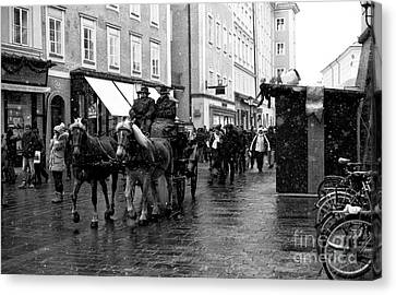 Carriage Ride Through Salzburg Canvas Print