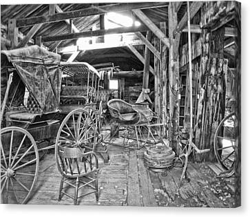 Carriage Shop - Virginia City Montana Canvas Print by Daniel Hagerman
