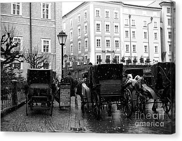 Carriages In Salzburg Canvas Print