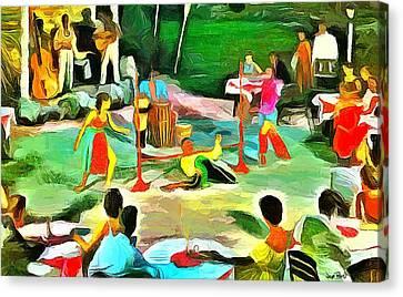 Carribean Scenes - Calypso And Limbo Canvas Print