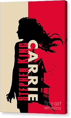 Carrie By Stephen King Book Cover Movie Poster Art 1 Canvas Print by Nishanth Gopinathan