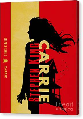 Carrie By Stephen King Book Cover Movie Poster Art 4 Canvas Print by Nishanth Gopinathan