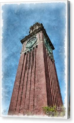 Carrie Clock Tower Brown University Providence Ri Canvas Print