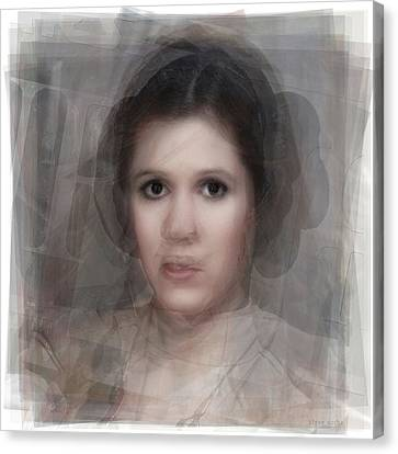 R.i.p Canvas Print - Carrie Fisher As Princess Leia Portrait by Steve Socha