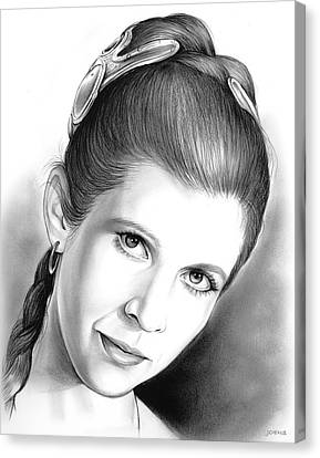 Carrie Fisher Canvas Print by Greg Joens