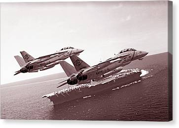Carrier Pass Canvas Print by Dorian Dogaru