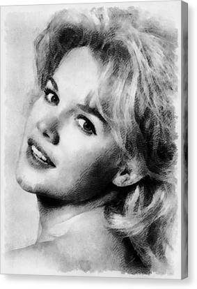 Carroll Baker Vintage Hollywood Actress Canvas Print by Frank Falcon