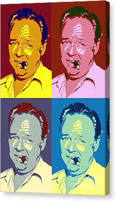 Carroll O'connor Pop Art Poster Canvas Print by Pd
