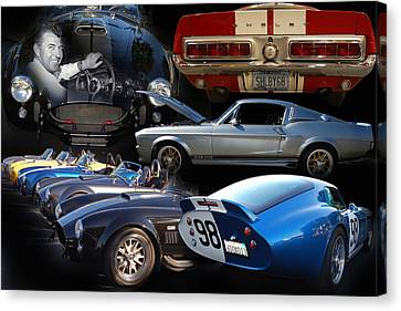 Carroll Shelby Tribute Canvas Print by Bill Dutting