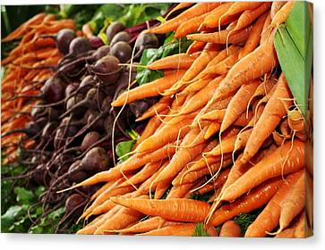 Carrots And Beets Canvas Print by Cathie Tyler