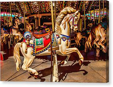 Carrousel Horse Ride Canvas Print by Garry Gay