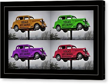 Antique Automobiles Canvas Print - Cars by Joan Carroll