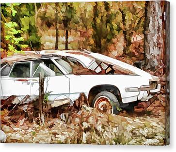 Day Canvas Print - Cars Left For Dead by Lanjee Chee