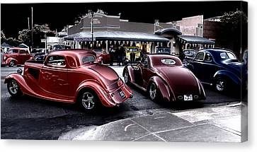 Cars On The Strip Canvas Print
