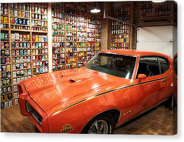Cars Pontiac Gto The Judge Canvas Print by Thomas Woolworth