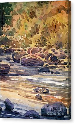 Carson River In Autumn Canvas Print by Donald Maier