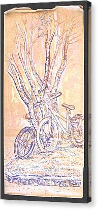 Cart Herder Bikes Canvas Print