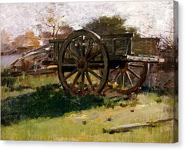 Cart, Nantucket Canvas Print by Theodore Robinson