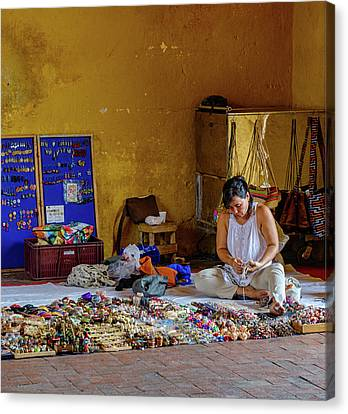 Cartagena Business Woman Canvas Print by William Ferry